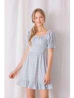 Storia Floral Puffy Sleeved Mini Dress - JD3267