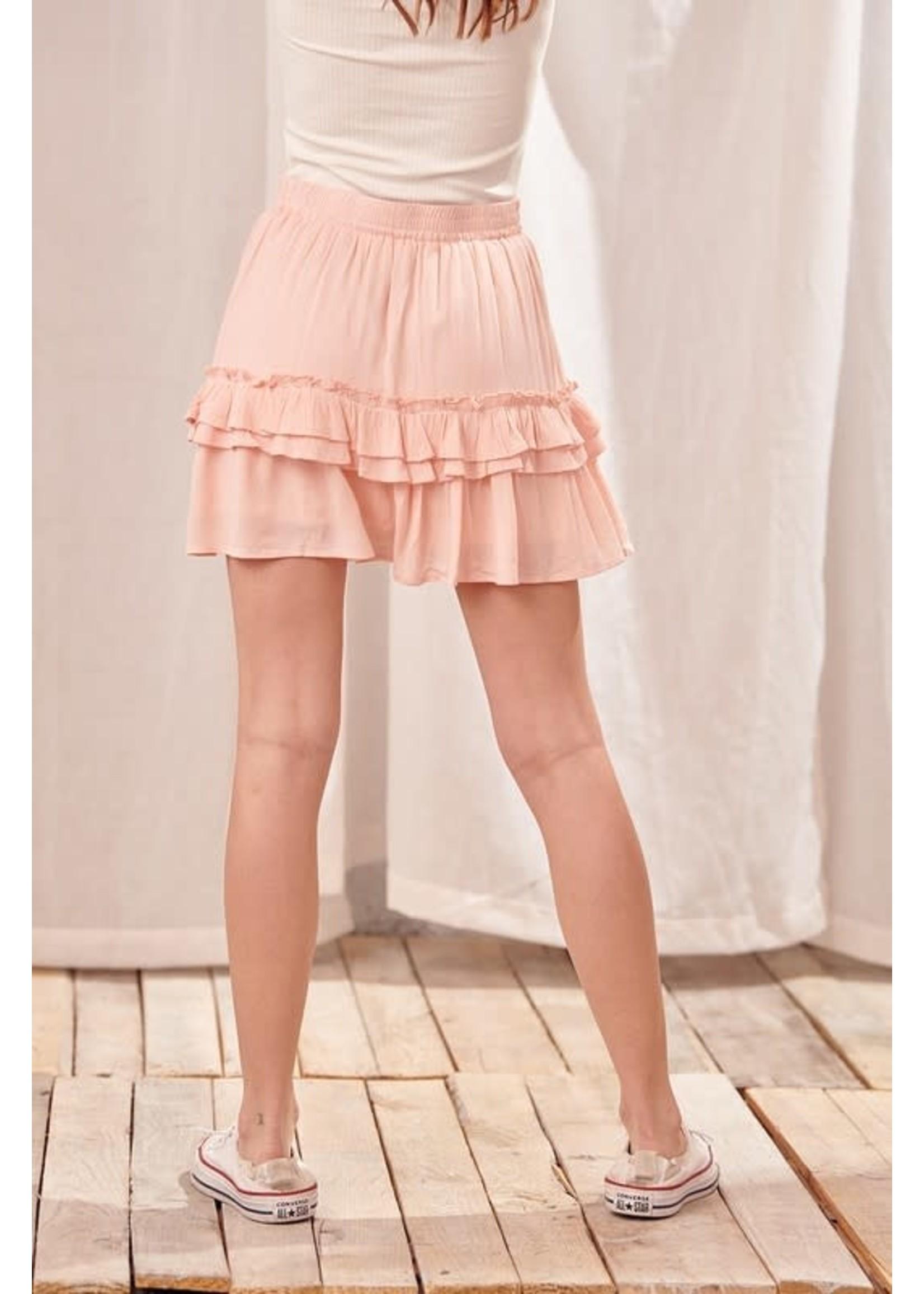 Storia Ruffled and Frilled Mini Skirt - JS2635
