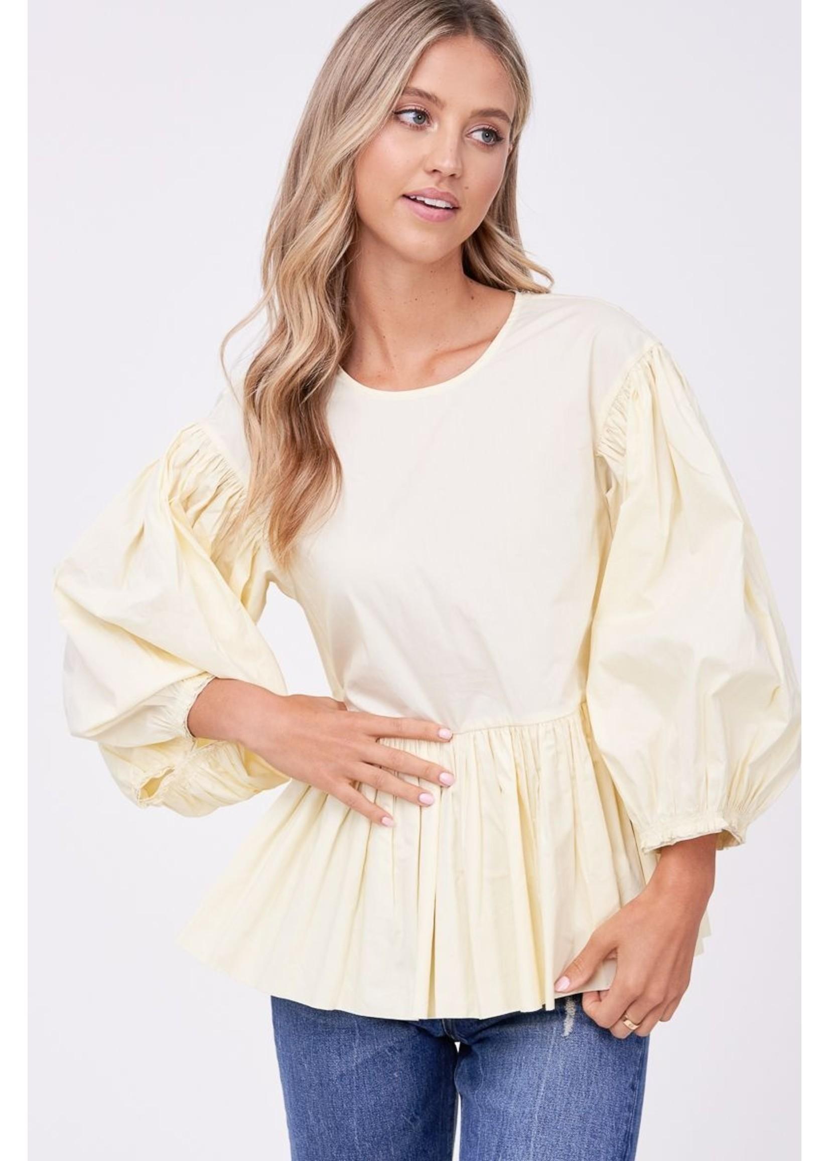 En Saison Poplin Exaggerated Sleeve Blouse - IES1840T