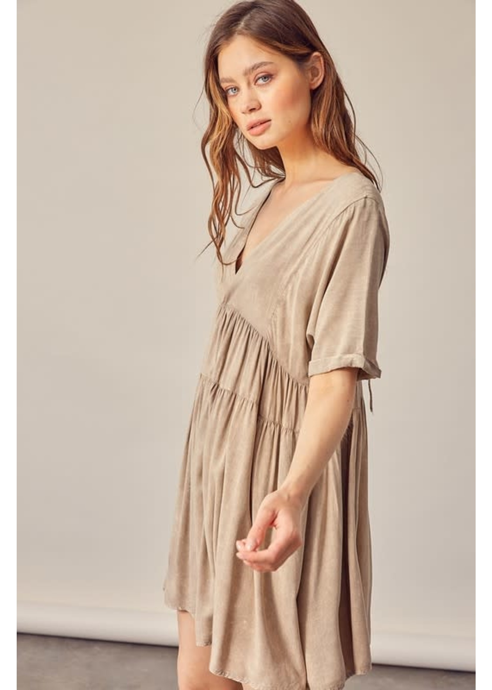 Mustard Seed Washed Flowy Dress - S17247