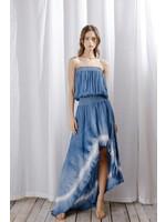 Storia Strapless Tie Dye High-Low Maxi Dress - LD1005