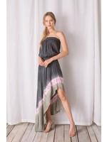 Storia Strapless Tie Dye High-Low Maxi Dress - LD1005D