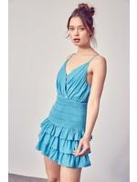 DO + BE Smocked Ruffle Dress - GY0931