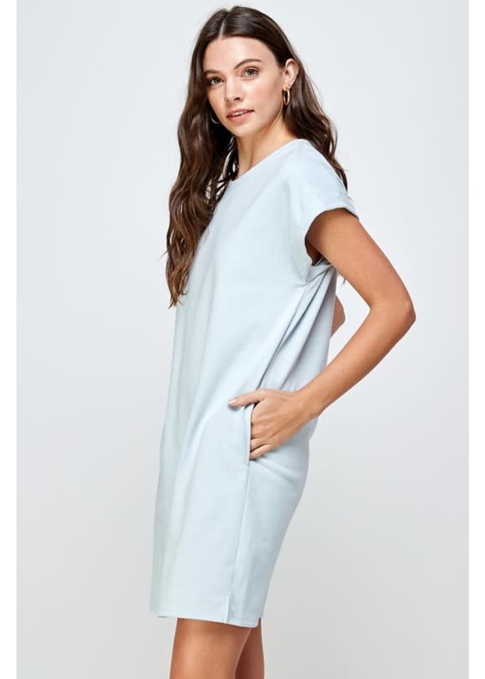 Ellison Solid T-Shirt Dress - RD-3179