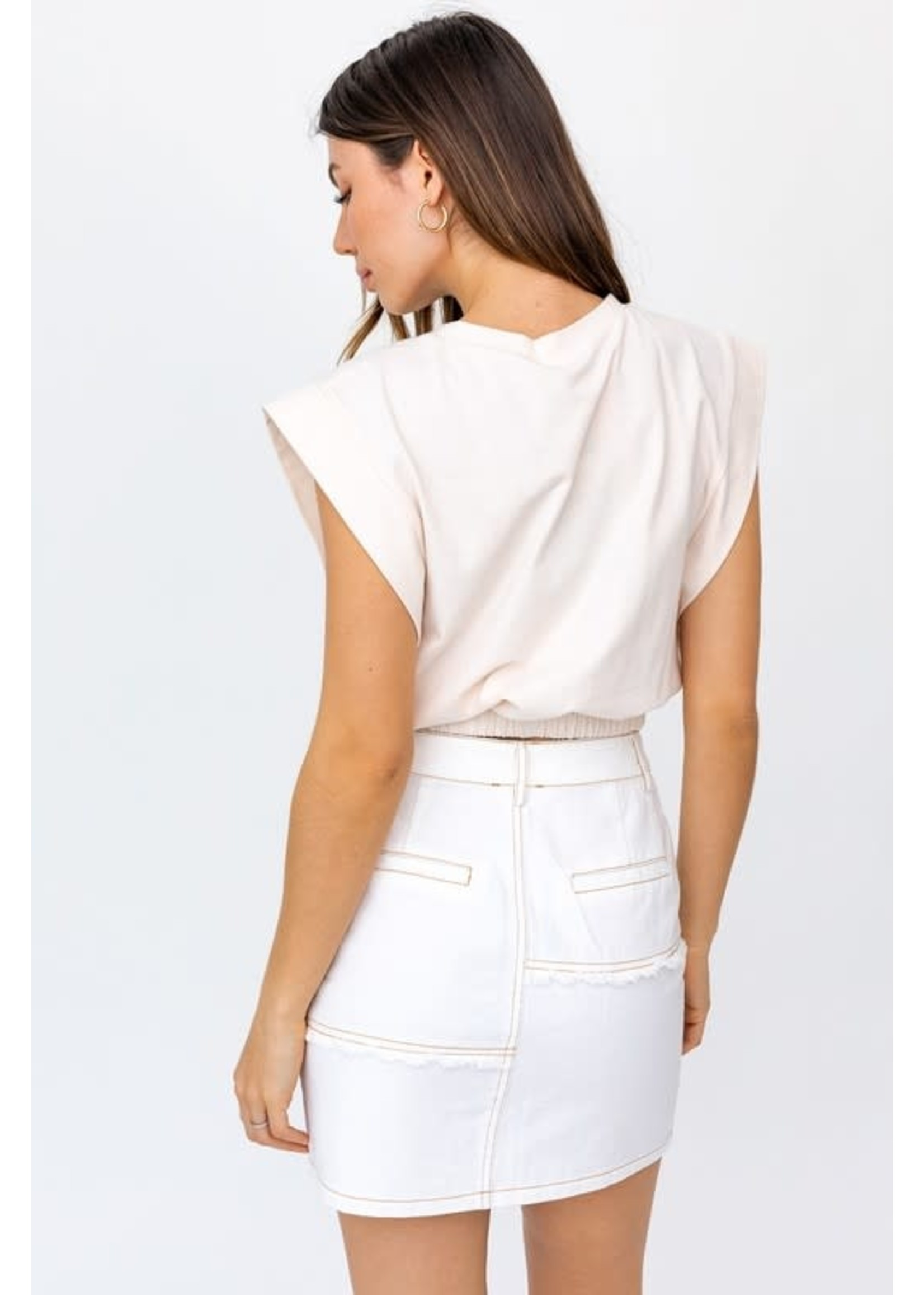 Le Lis Cropped Cinched Muscle Tee - KT3962