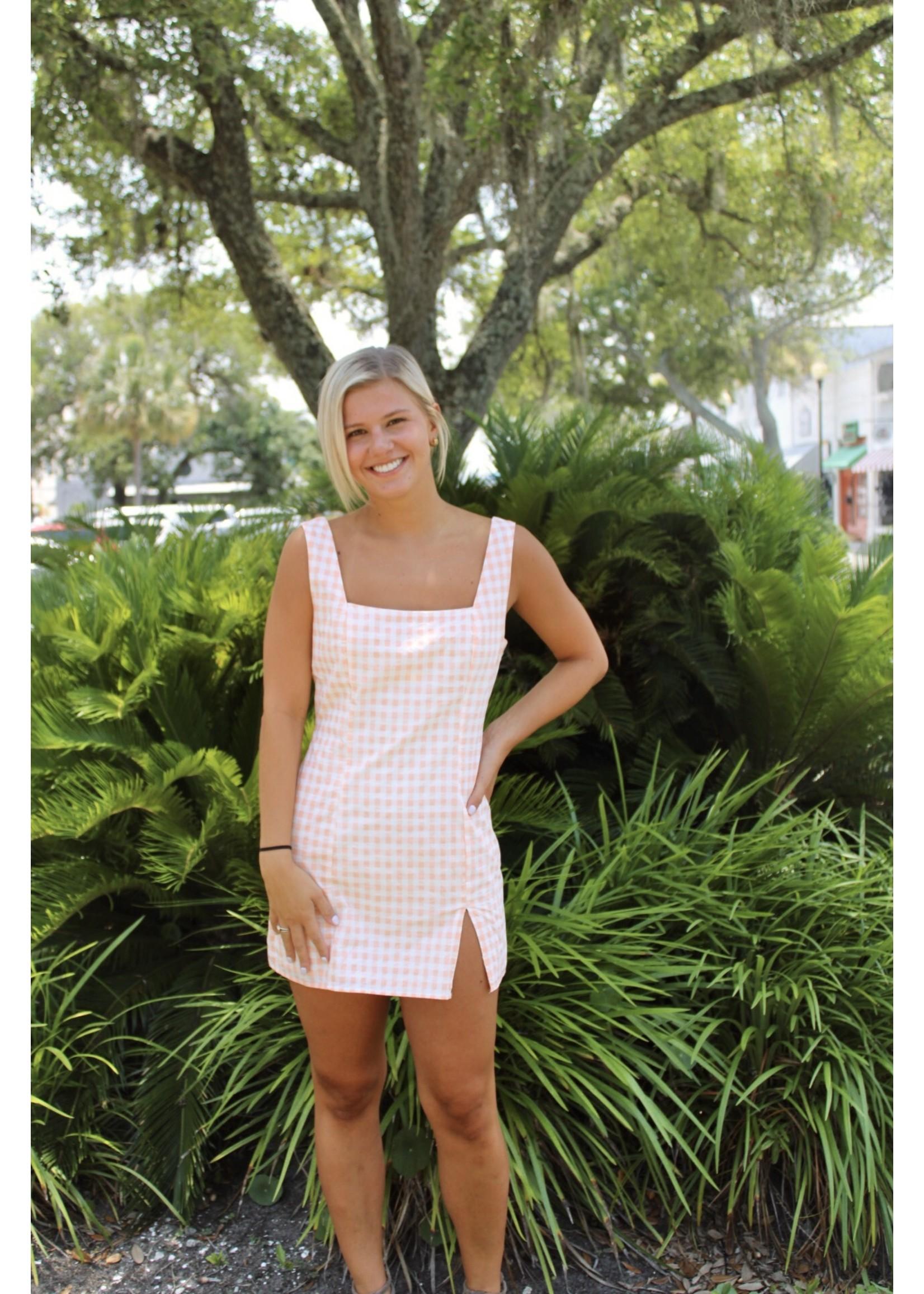 Le Lis Checkered Sleeveless Mini Dress - UD8175