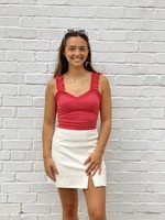 Pretty Follies Faux Leather Zip-Up Mini Skirt - CS3429