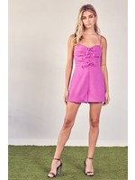 DO + BE Front Tying Detailed Romper - Y20236
