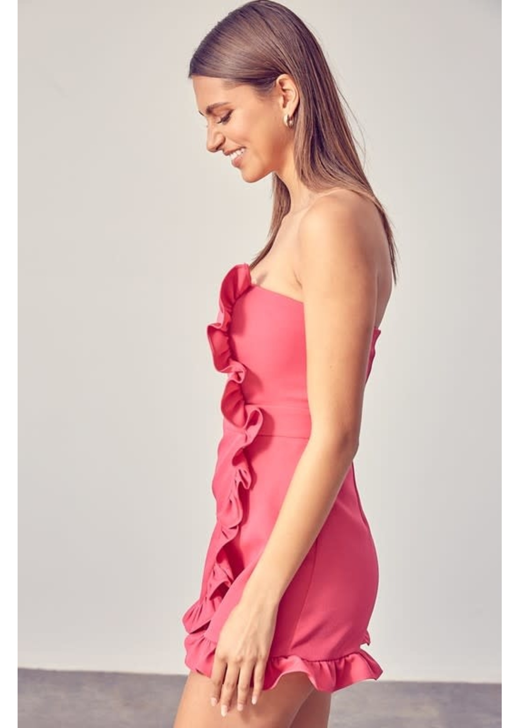 Do+BE Strapless Side Ruffle Romper - GY0916