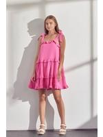 &Merci Strappy Ruffle Tiered Mini Dress - MDR9300