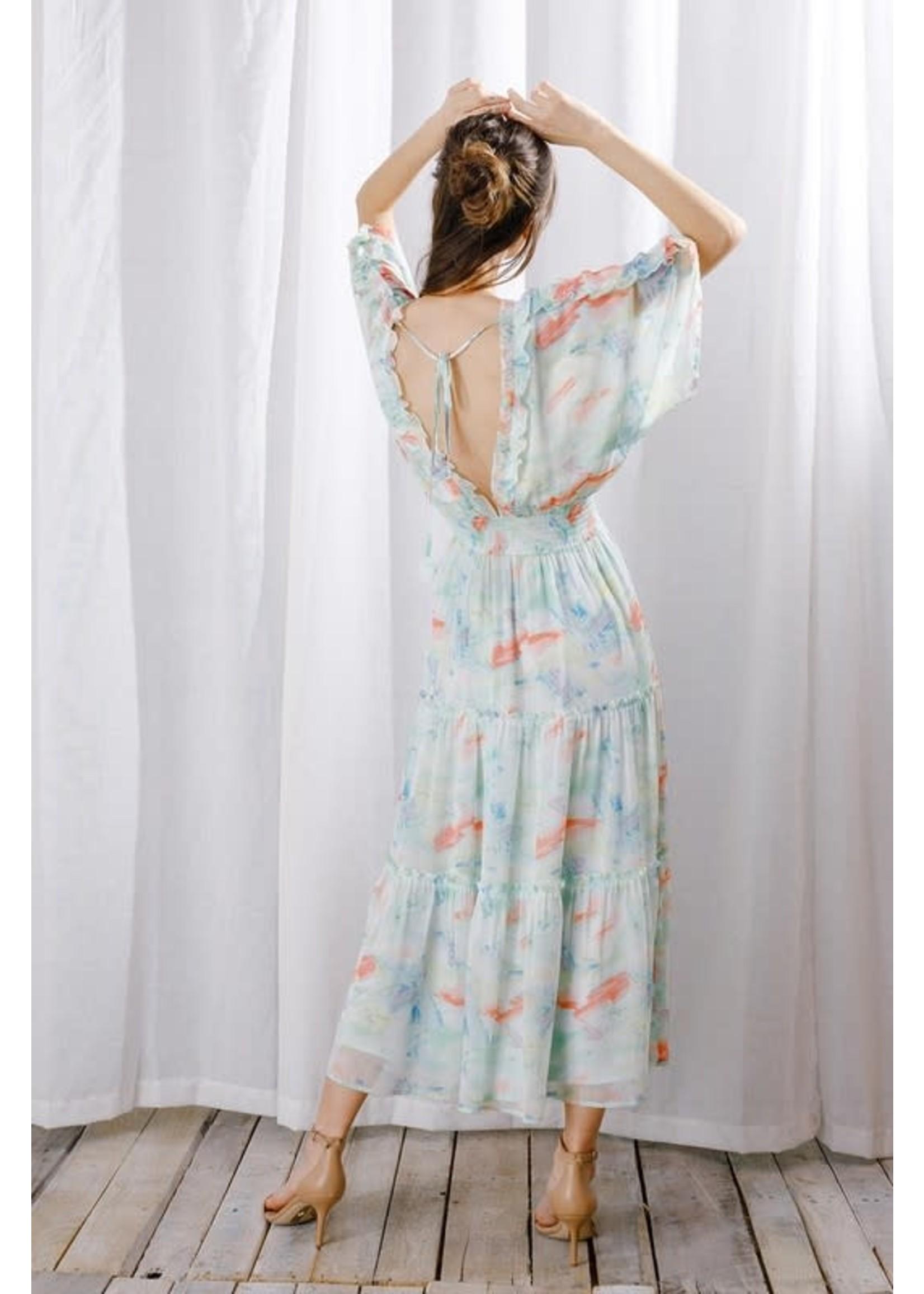 Storia Water Color Maxi Dress - JD3275