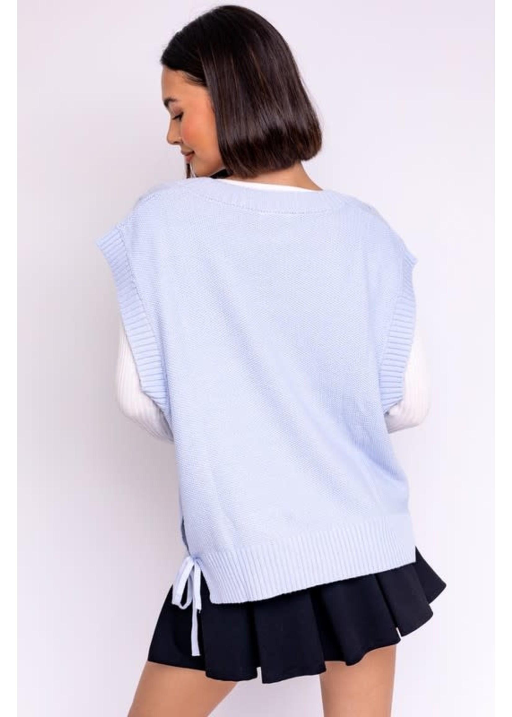 Le Lis Cable Vest Sweater Top - SWT6686
