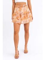 Le Lis Floral Smocked Flare Mini Skirt - US8182