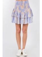 Fanco Smocked Tiered Ruffle Mini Skirt - EKS3122