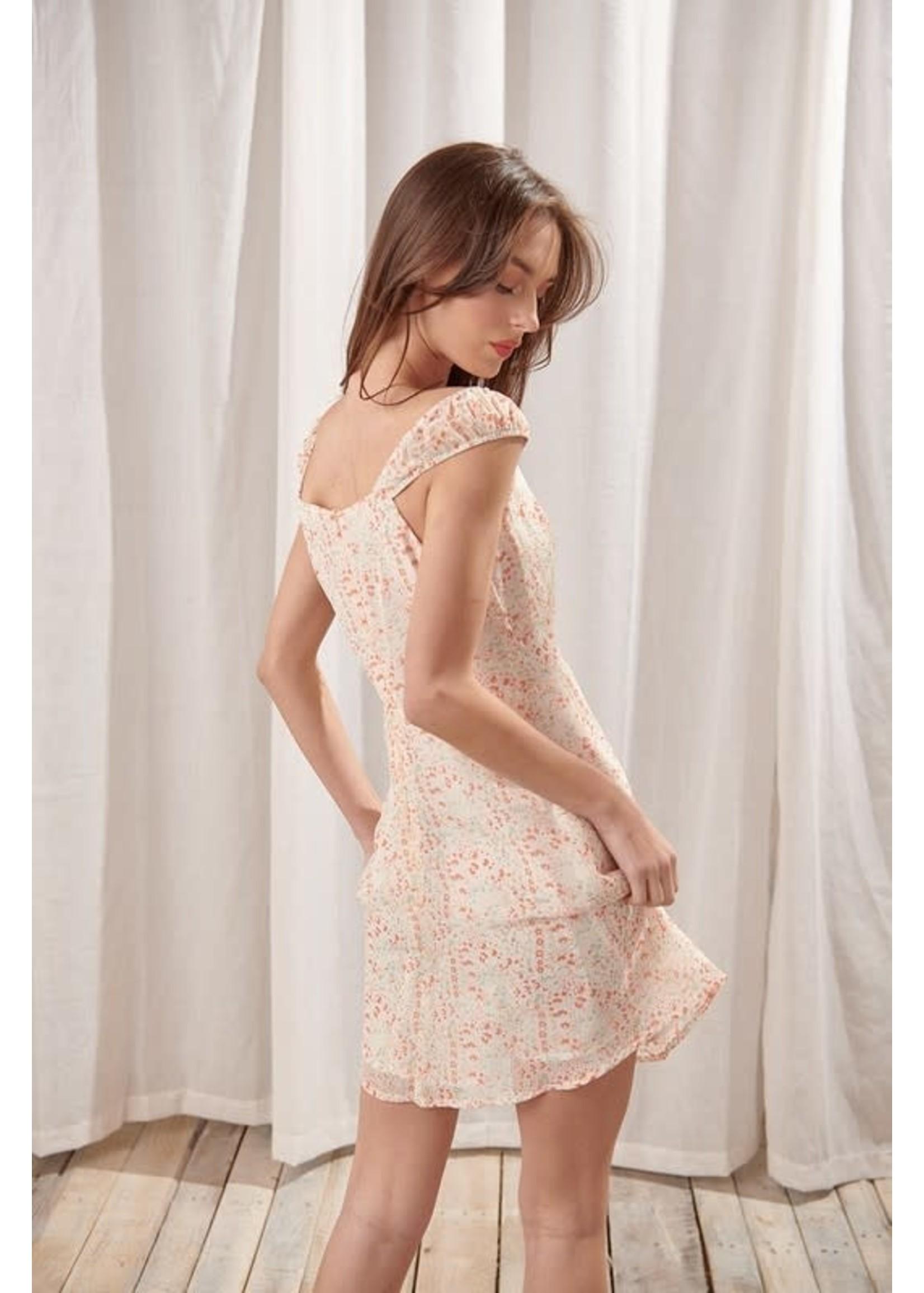 Storia Ditsy Floral A-Line Mini Dress - BD2078