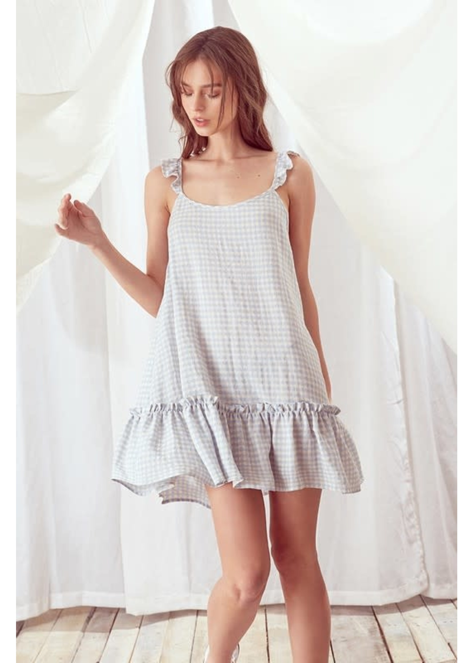 Storia Gingham Swing Mini Dress - JD3202