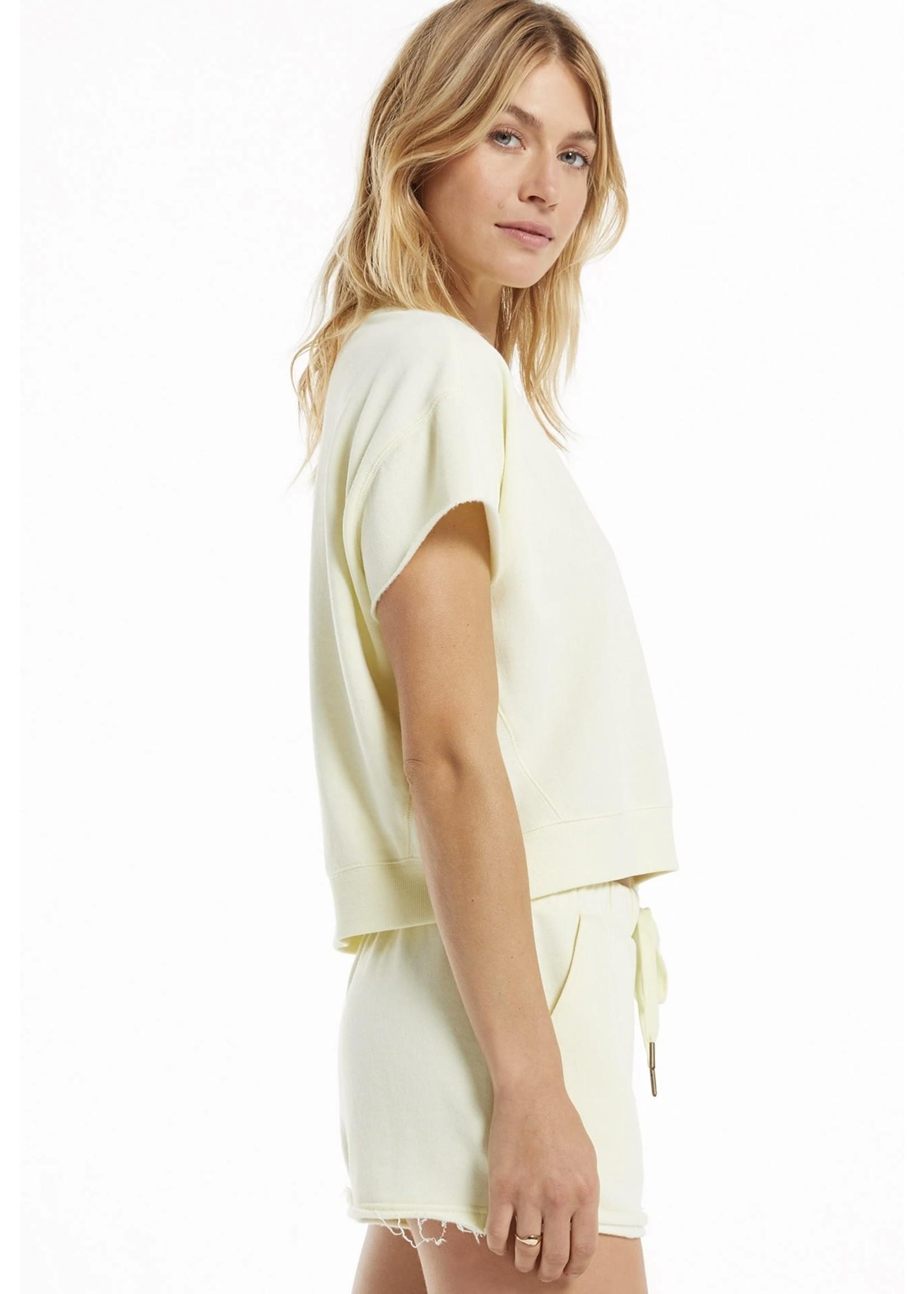 Z Supply Adah Fleece Short Sleeved Top - ZT213913