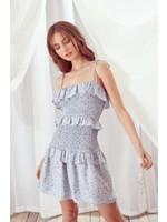 Storia Floral Print Layered Mini Dress - JD3258