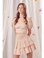 Storia Embroidered Layered Mini Skirt - BS1863