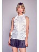 DO + BE Side Ruching Sleeveless Top - Y20297