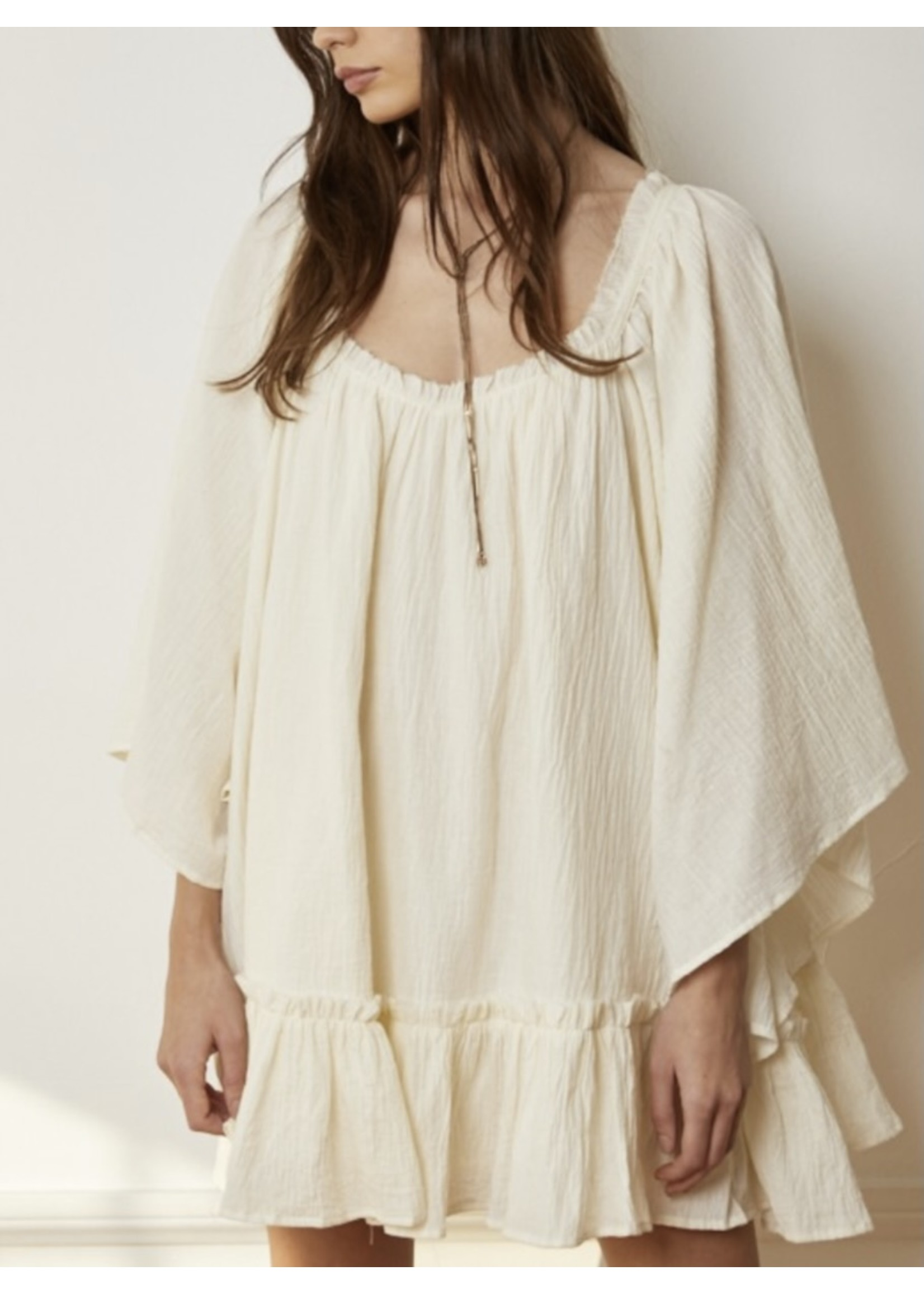 By Together Woven Ruffled Dress - L4818