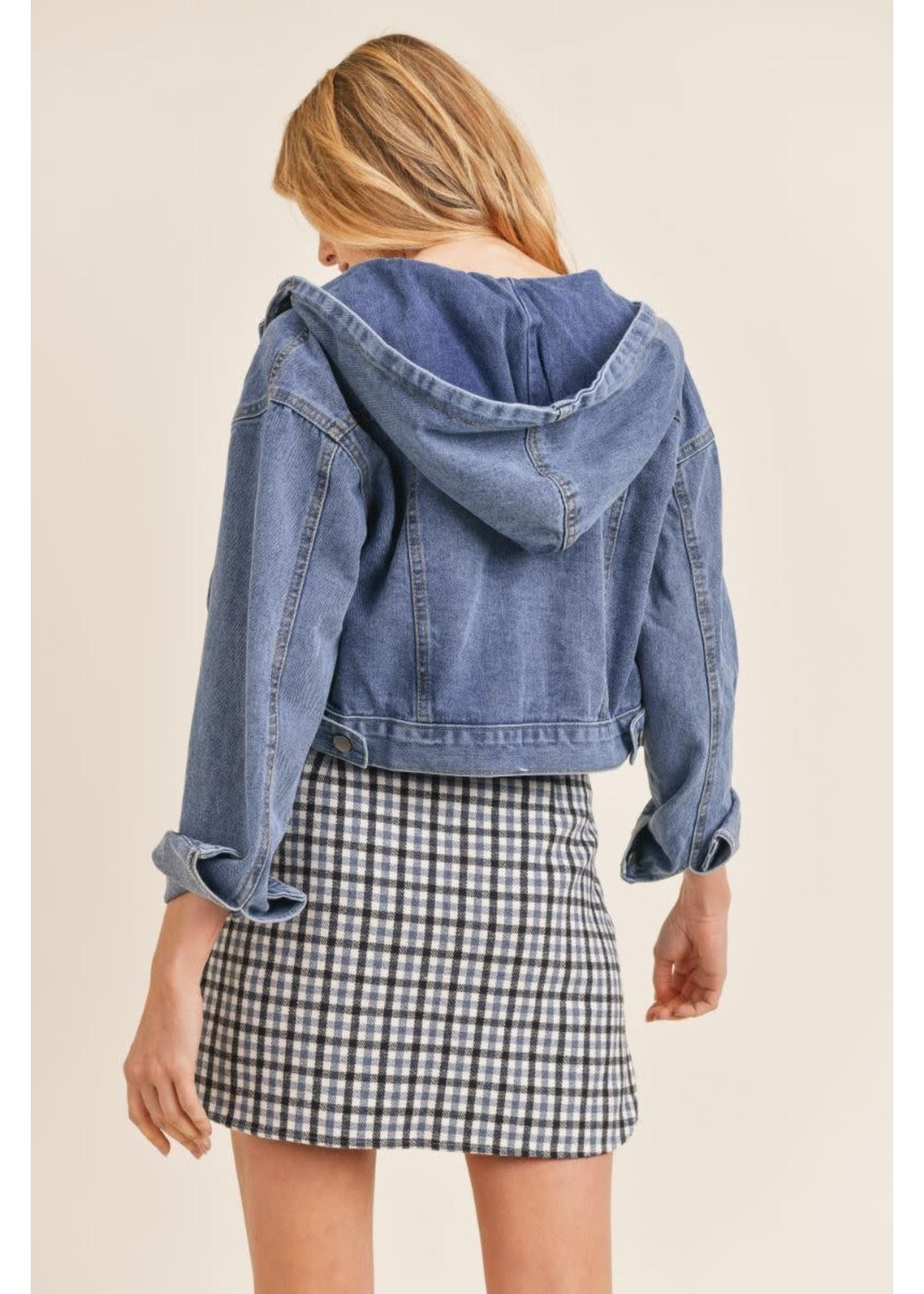 Sadie & Sage Act Denim Hooded Jacket - AC383469