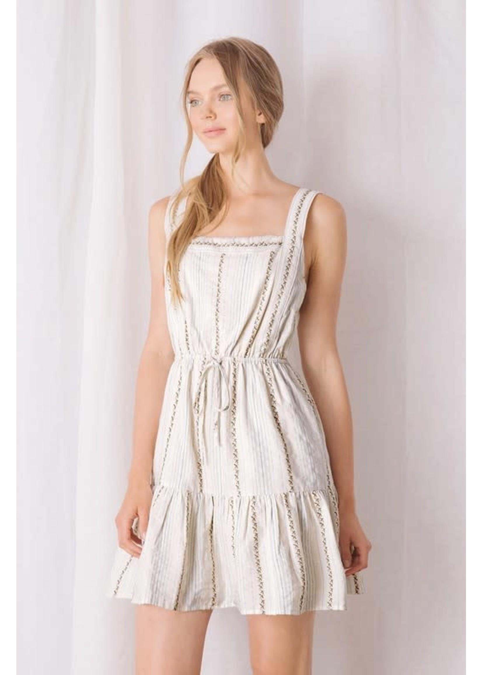 Storia Striped and X Print Mini Dress - BD2097