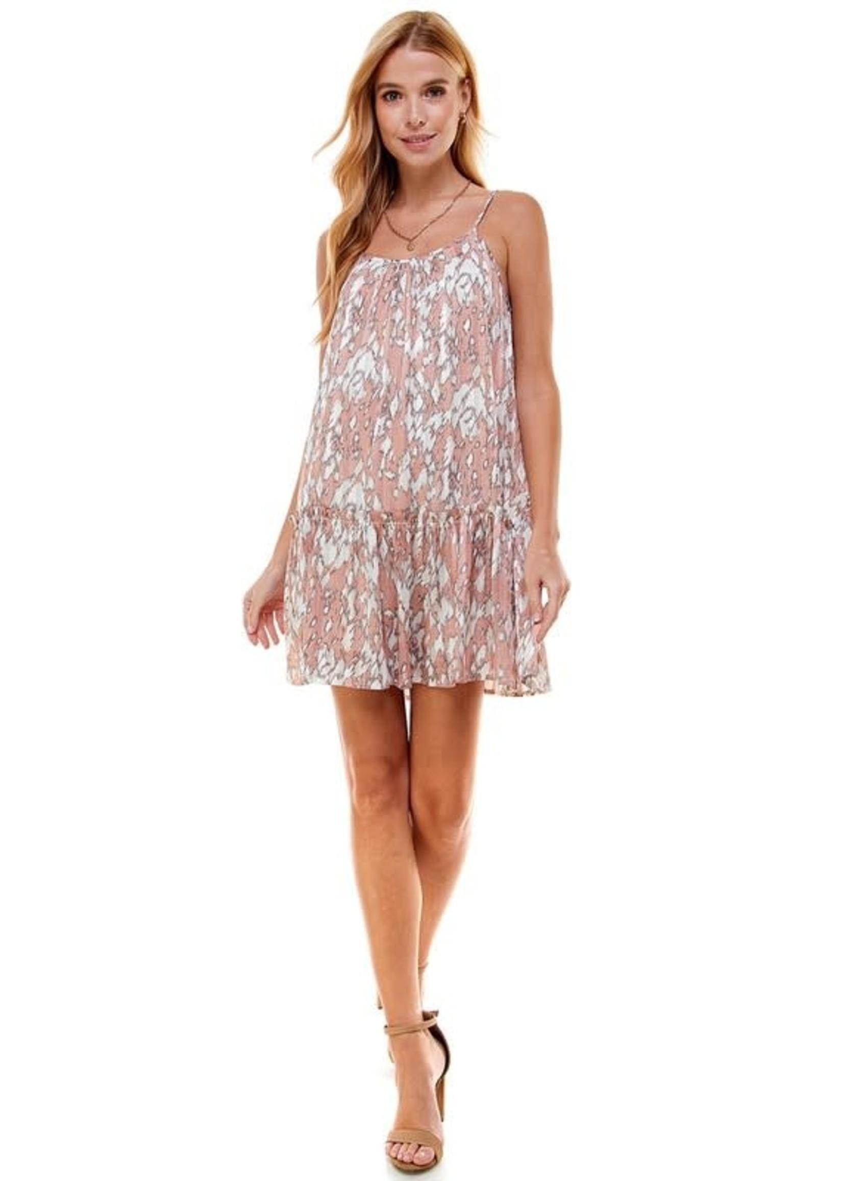 Pretty Follies Patterned Flowy Mini Dress - CD02170