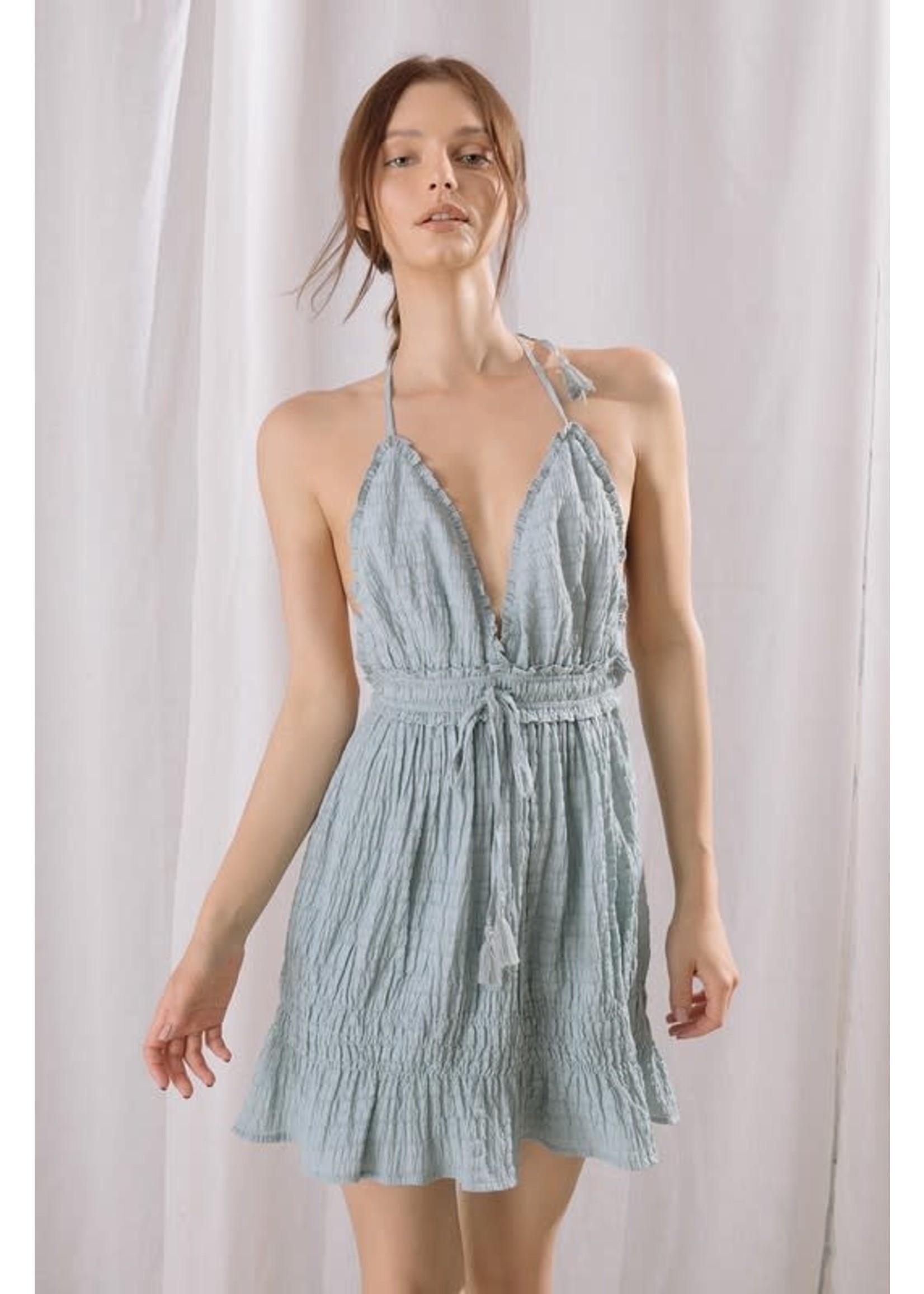 Storia Monochromatic Low Back Mini Dress - BD1924