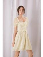 Storia Floral Swiss Dot Ruched Mini Dress - SD2903