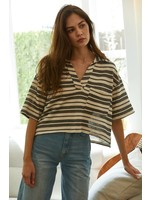 By Together Knitted Haci Oversized Cropped Tee- RJ2342
