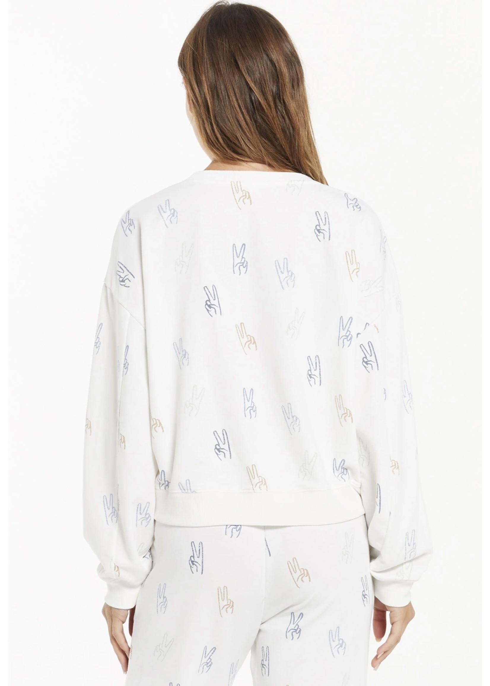Z Supply Noa Make Peace Sweatshirt - ZT213804