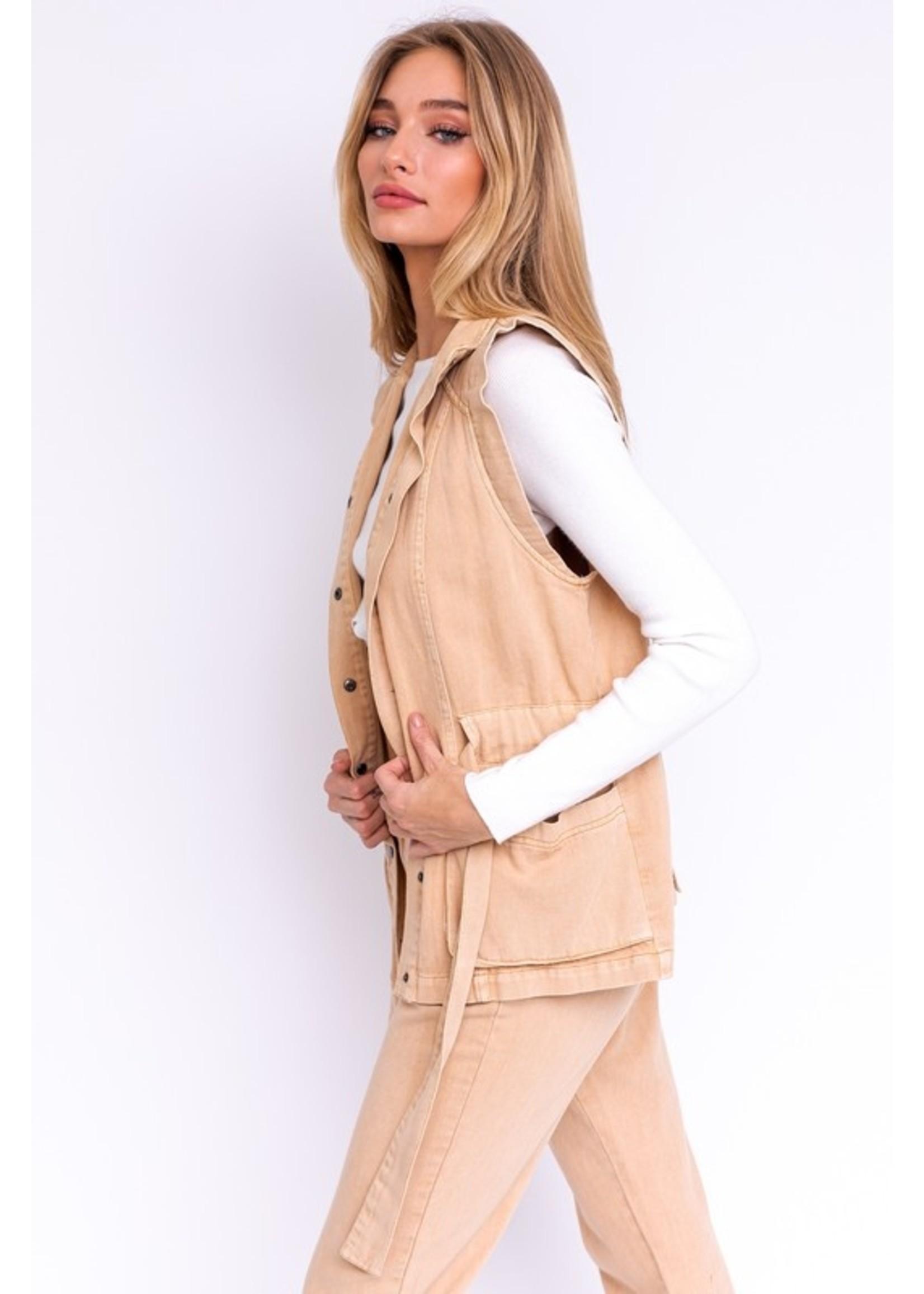 Le Lis Denim Vest Jacket - MJ4319