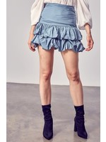 DO + BE Ruched Ruffled Mini Skirt - Y20848