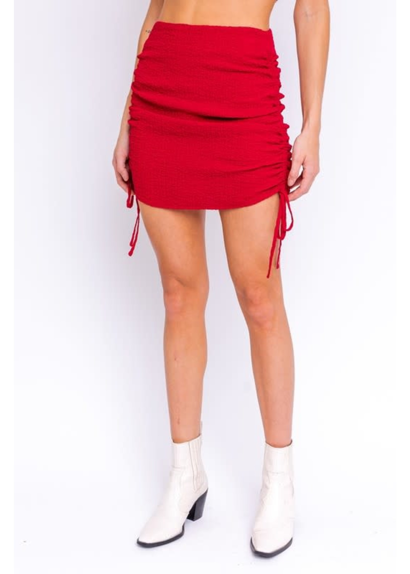 Le Lis Side Ruching Mini Skirt - MS3671