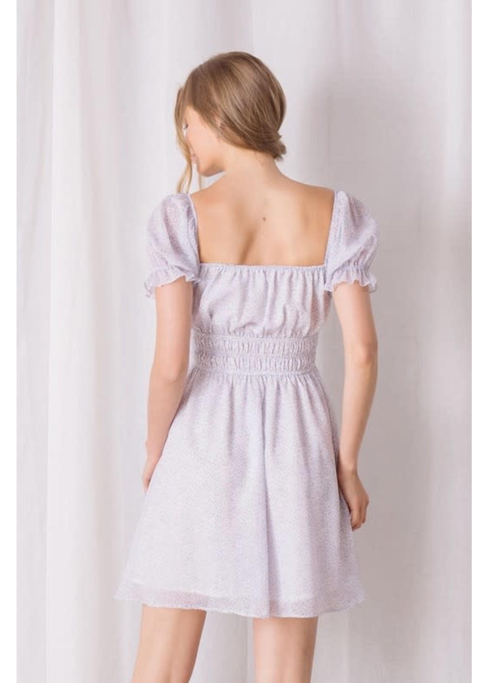 Storia Floral Short Sleeved Mini Dress - JD3314