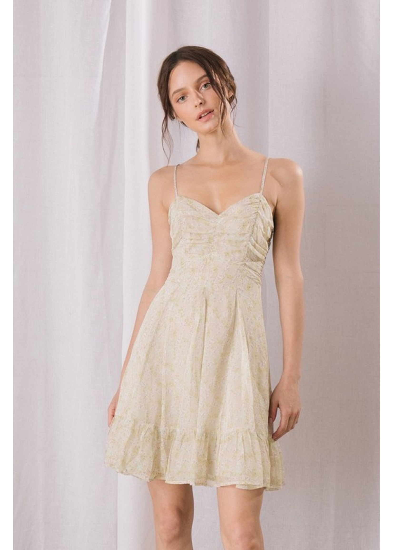 Storia Floral Ruched Mini Dress - BD2098