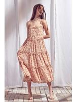 Storia Faded Floral Print Midi Dress - BD1795