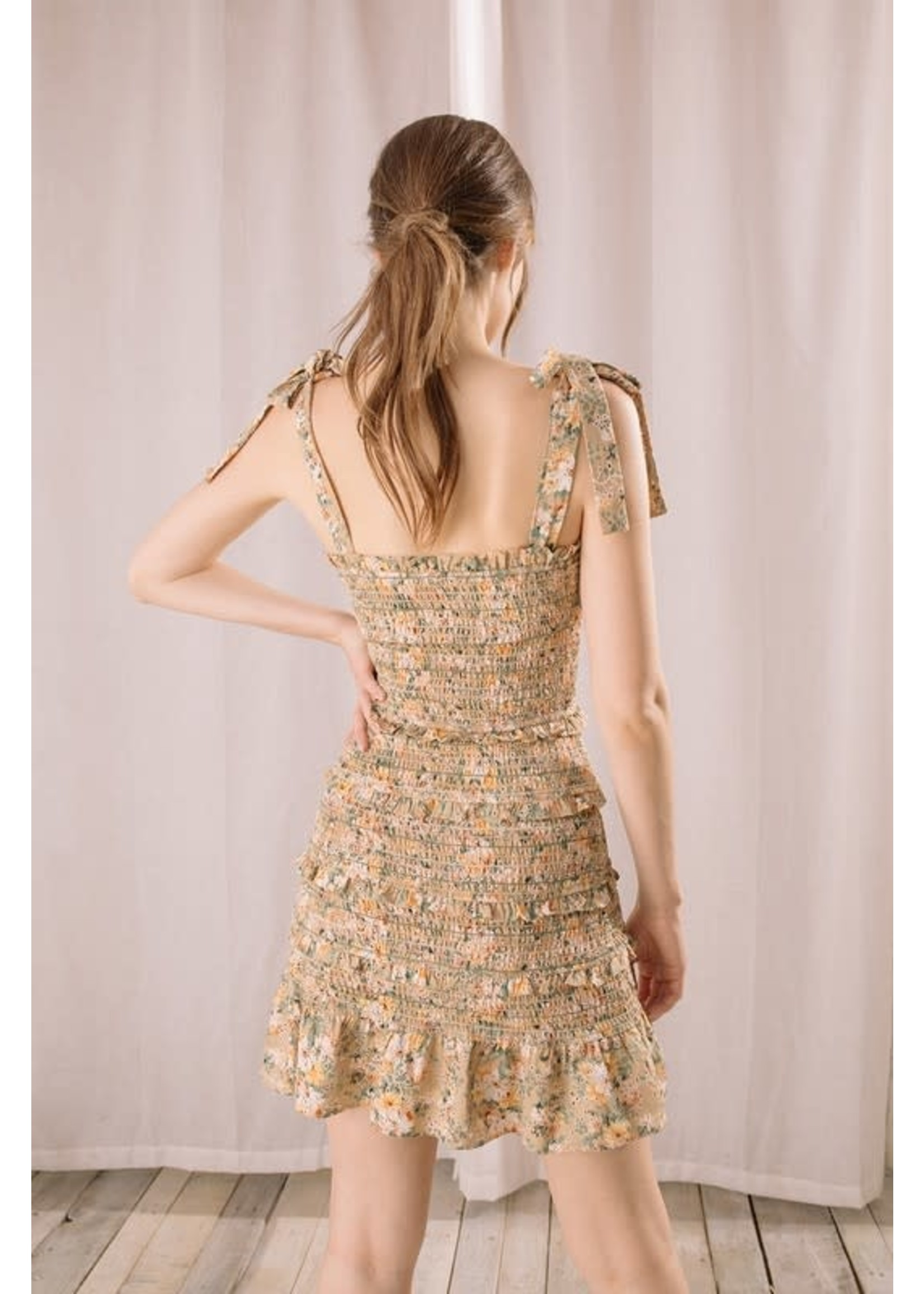 Storia Floral Print Bodycon Mini Dress - JD2128K