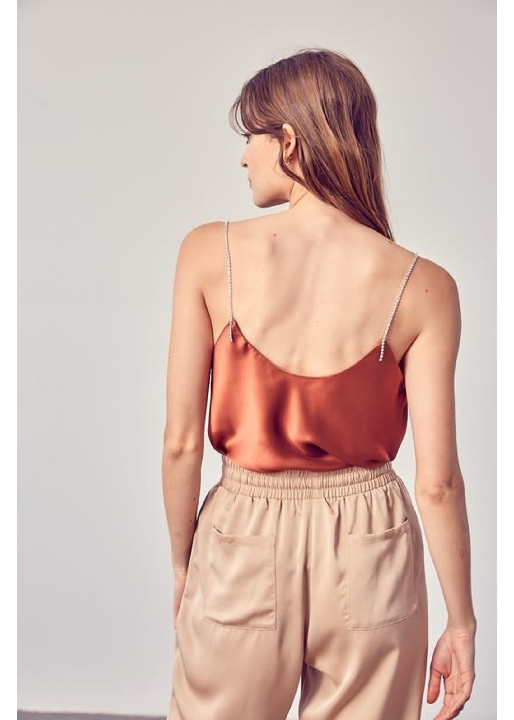 DO + BE Draping Strappy Tank Top - Y19361