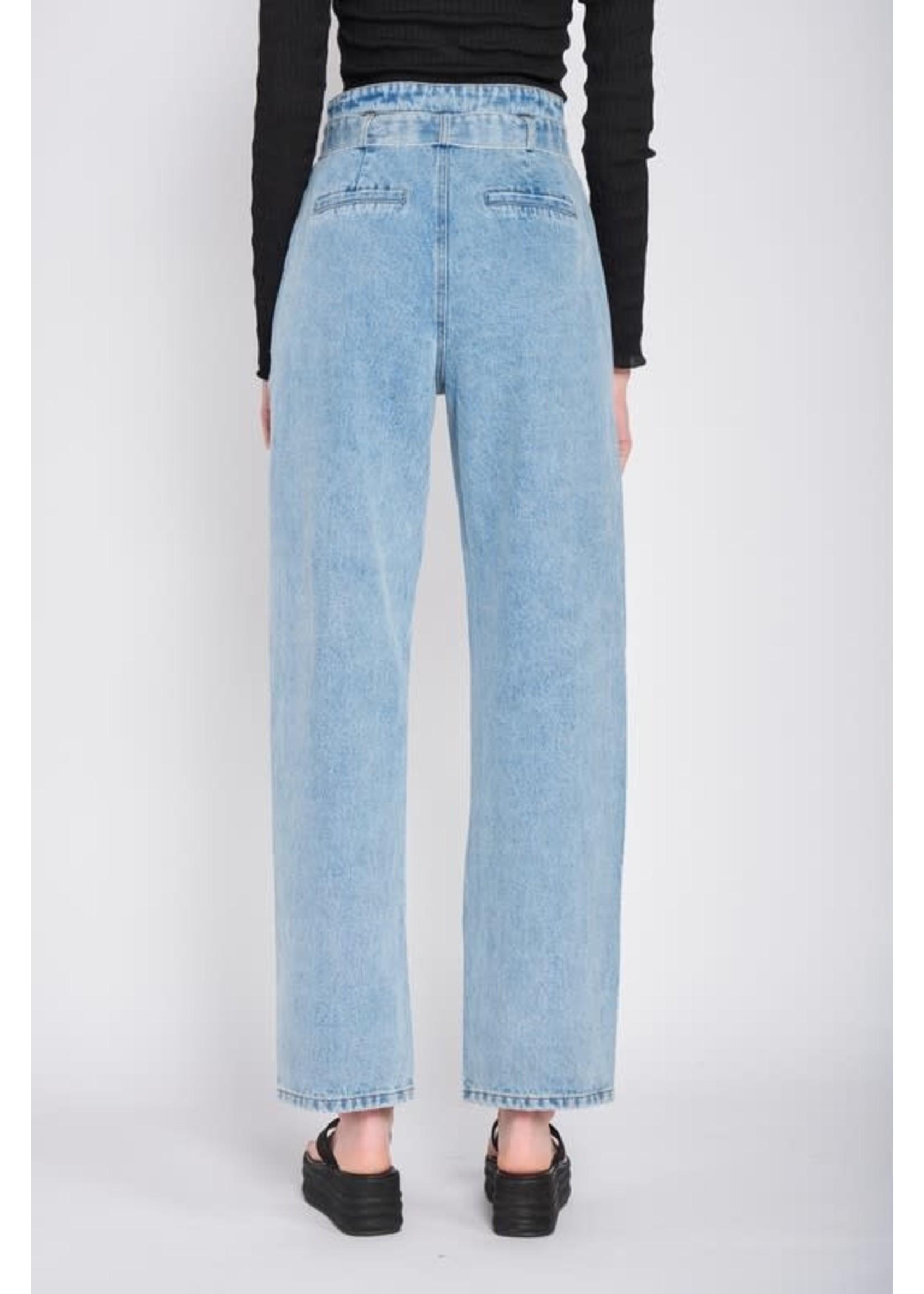 Emory Park Straight Leg Jeans With Belt - IMA6465P