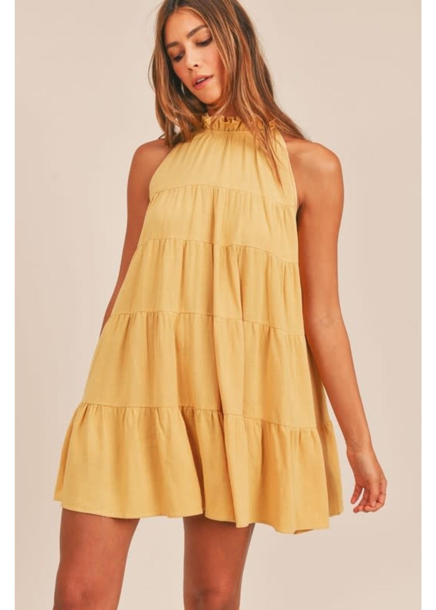 Mable Sleeveless Loose Ruffled Mini Dress - MD2352A