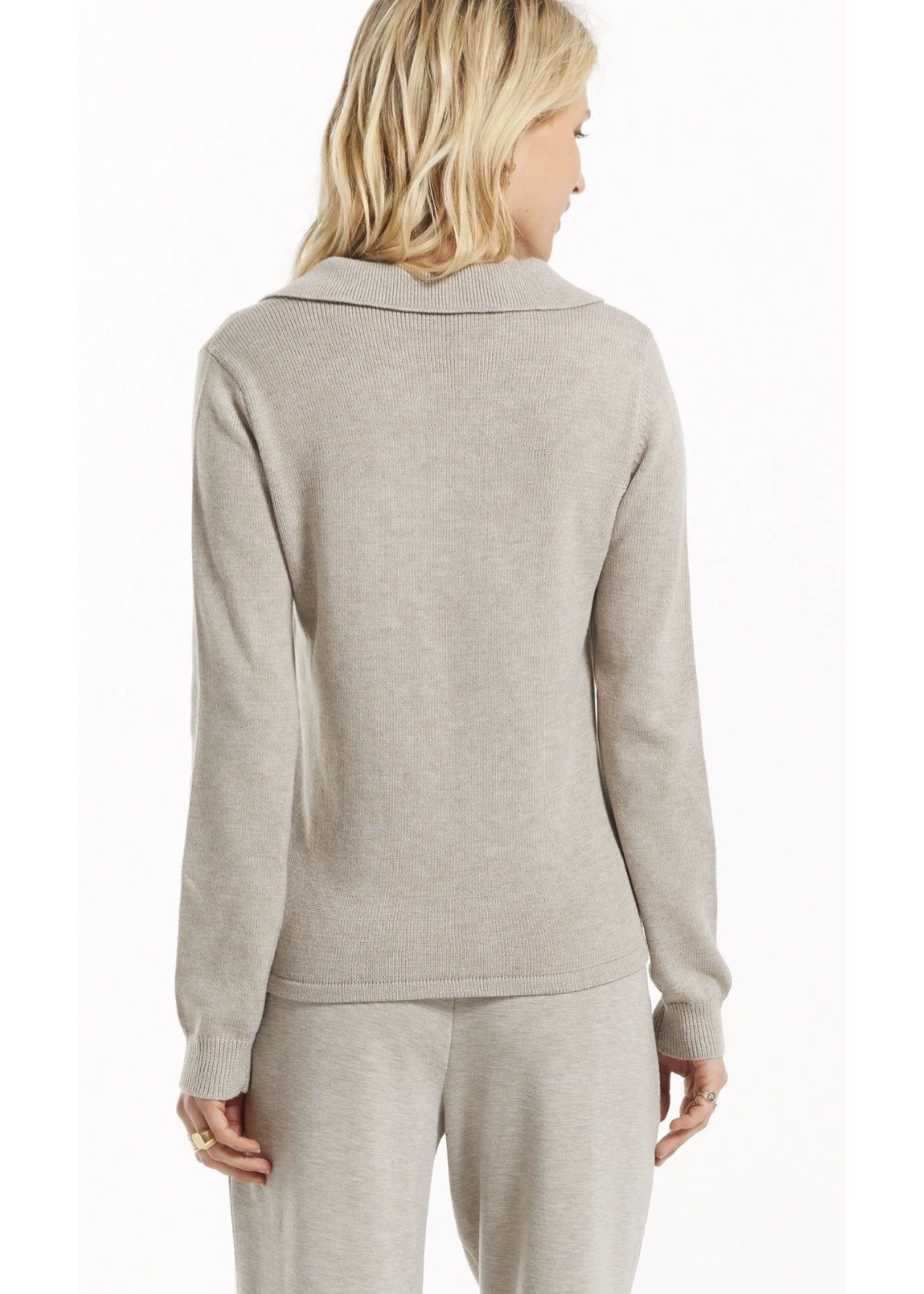 Z Supply WFH Polo Long Sleeved Top - ZW213148