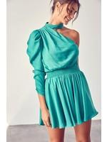 DO + BE Mock Neck One Shouldered Dress - Y21277