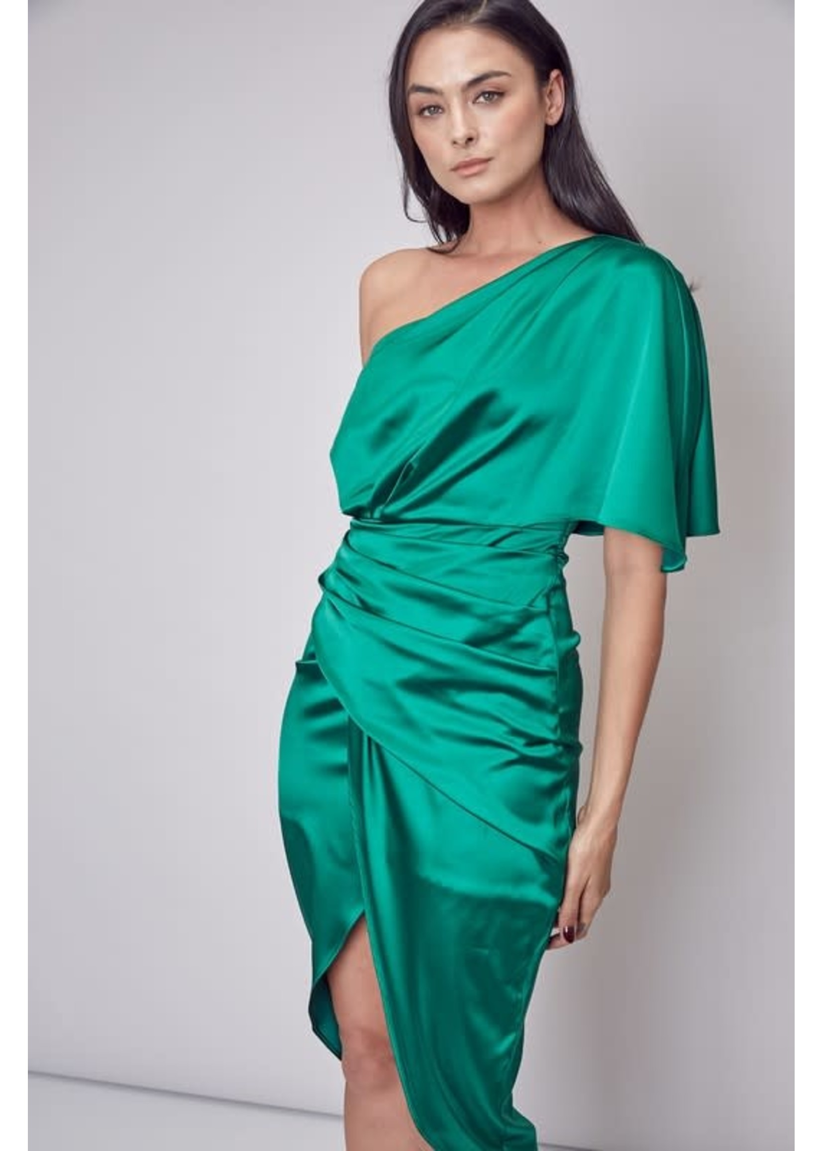 DO + BE One Shouldered Wrap Dress - GY0455