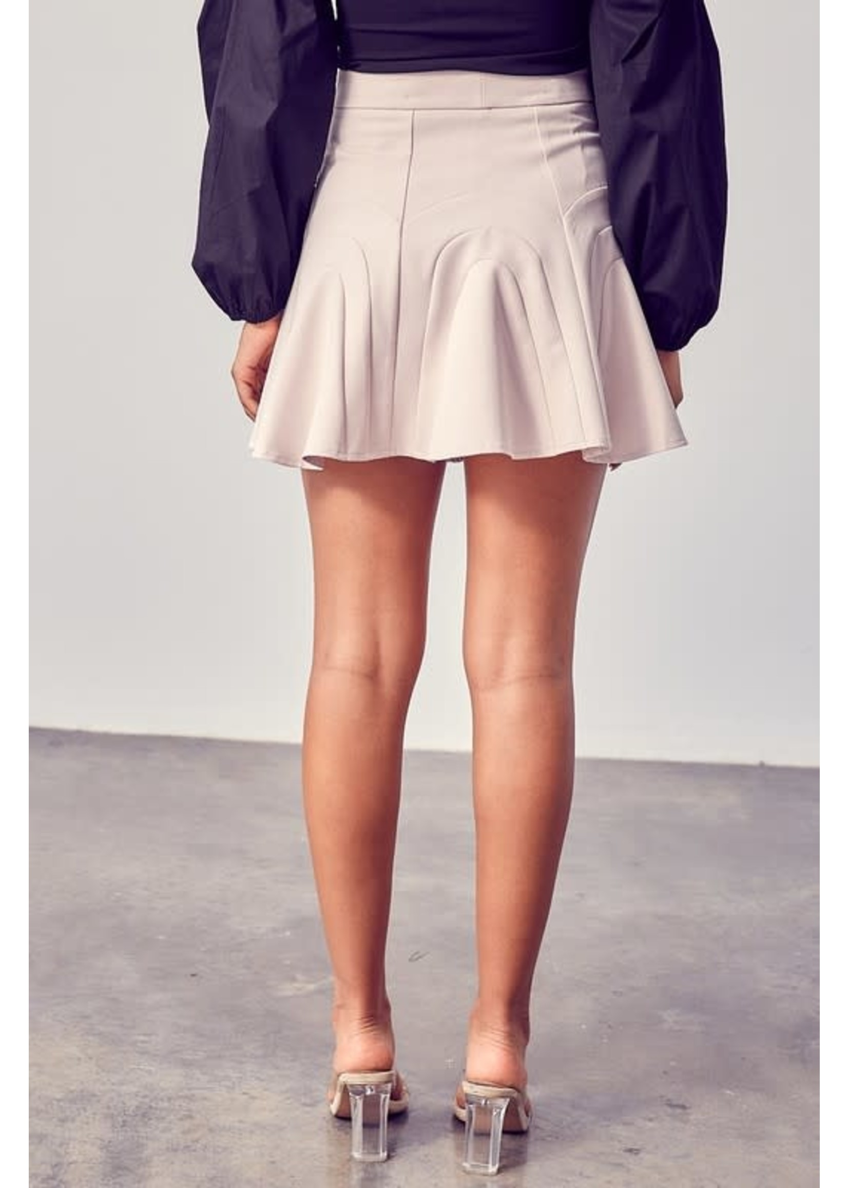 DO + BE A-Line Detailed Mini Skirt - Y20086