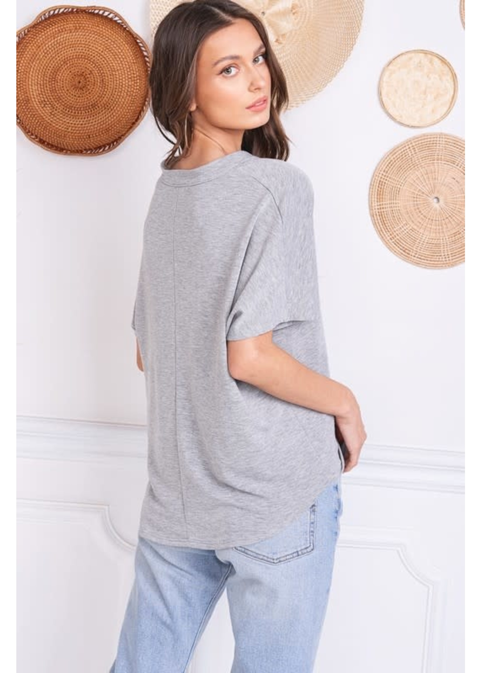 Charlotte Avery Loose Placket T-Shirt - 11436