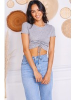 Charlotte Avery Front Cinched Cropped Tee - 11217