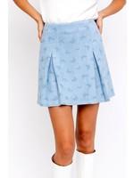 Le Lis Butterfly Pleated Straight Mini Skirt - SS6821