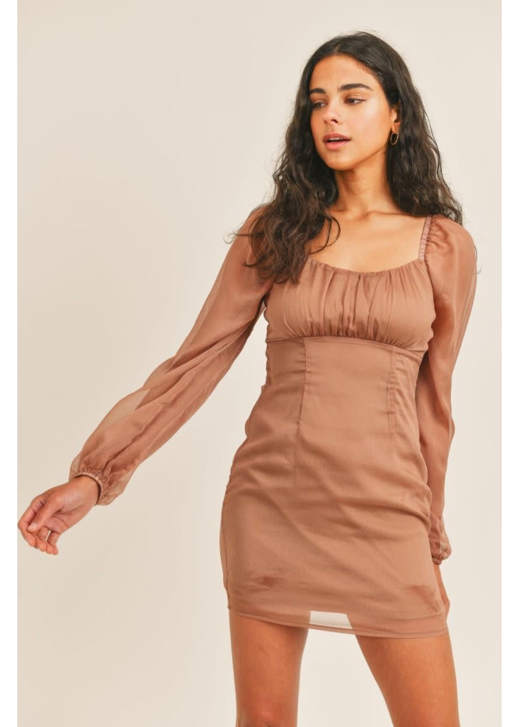 Sadie & Sage Think of You Smocked Mini Dress - AC331510